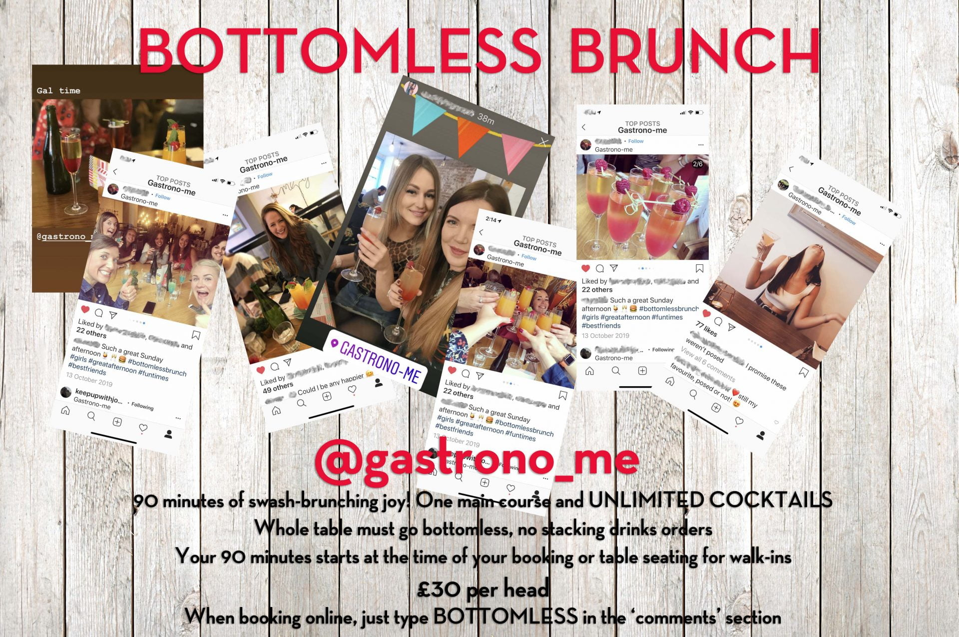 Bottomless Brunch at Gastrono-Me Bury St Edmunds - Unlimited Cocktails