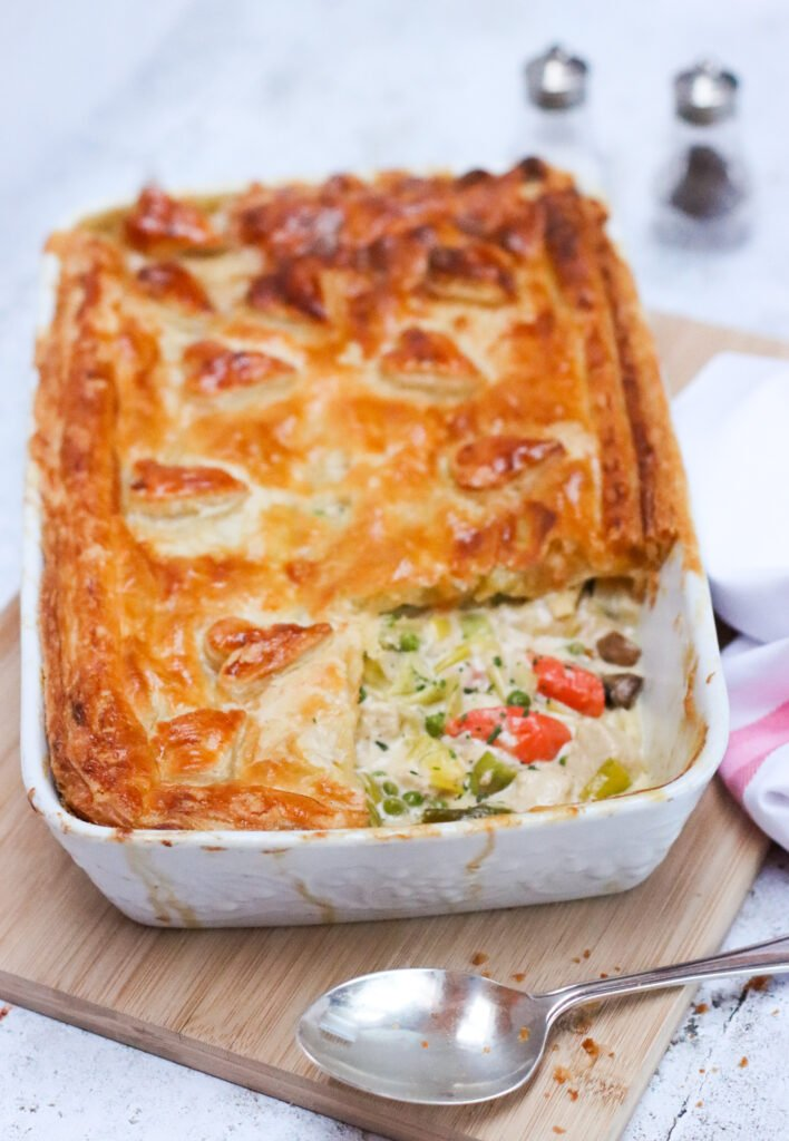 No Cluck Chicken and Vegetable Spring Pie